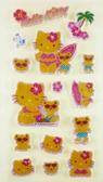 【震撼精品百貨】Hello Kitty 凱蒂貓~KITTY立體貼紙-衝浪