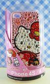 【震撼精品百貨】Hello Kitty 凱蒂貓~HELLO KITTY iPhone4貼鑽手機殼-粉和服