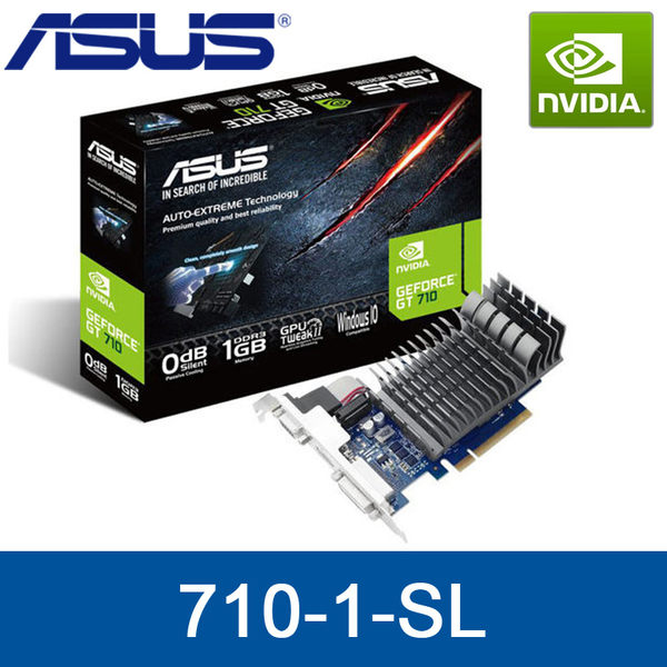 【免運費】ASUS 華碩 710-1-SL 顯示卡 / GT710 1G DDR3