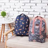 ✭慢思行✭【N119】印花手提後背包 簡約 多用途 休閒 大容量 日系大開口雙肩包 筆電 書包