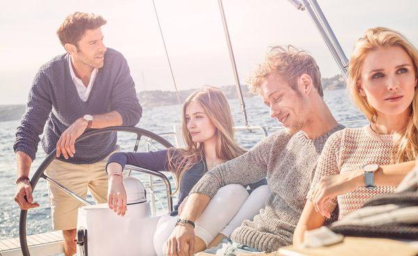 【時間道】Paul Hewitt ⚓️ 德國設計師品牌 船錨皮繩手環 /銀釦黑尼龍 (PH-PH-N-S-B)免運費
