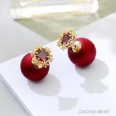 適合冬天的耳釘新款潮年味耳環網紅女氣質紅色過年耳飾耳墜傑克型男館