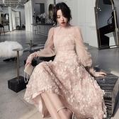 仙氣裙生日派對洋裝名媛洋裝小禮服平時可穿宴會晚禮服仙女系秋 全館免運快速出貨