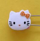 【震撼精品百貨】Hello Kitty 凱蒂貓~KITTY掀開式安全別針-大頭造型-橘#76637
