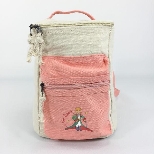 小王子經典版授權 - 方筒拼色後背包(粉)