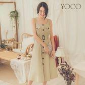 東京著衣【YOCO】巴黎女孩風衣style排釦洋裝-S.M.L(181633)