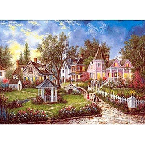 【台製拼圖】夜光-西洋油畫-庭園畫作 (520片) HM520-059