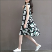 NiCELIFE 輕柔洋裝 【D9030】 花色 舒適 無袖 開襟 孕婦裝 傘狀 翻領 孕婦洋裝 孕婦裙