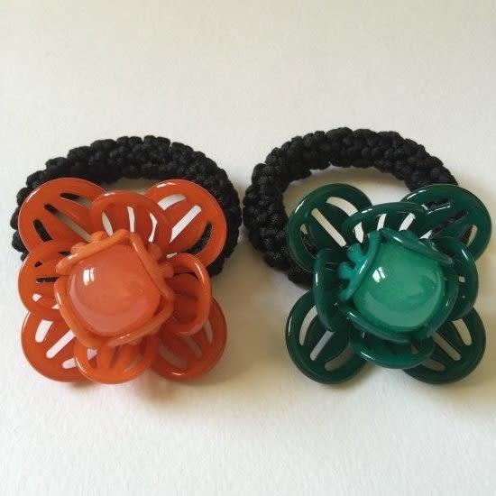 立體雕花氣質花朵髮束-法國知名品牌,韓星御用韓國製造