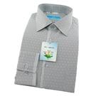 【南紡購物中心】【襯衫工房】長袖襯衫-淺黑色細條緹花織紋