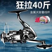 漁輪 全金屬紡車輪 路亞輪 漁輪魚輪正品魚線輪金屬輪5000海桿輪海竿輪 快速出貨