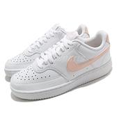 Nike 休閒鞋 Wmns Court Vision Low 白 粉橘 小白鞋 女鞋 【ACS】 CD5434-105