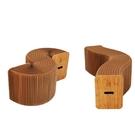 【可摺疊伸縮】風琴椅子 長椅 伸縮可變形輕便家具紙家具茶几圓凳長凳【AAA1198】預購