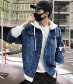 牛仔外套男士春秋季韓版潮流休閒夾克修身帥氣寬鬆衣男裝   蜜拉貝爾