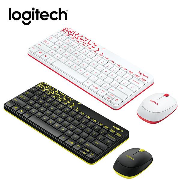 羅技 MK240 Nano 無線鍵鼠組 - 白色 (紅邊)