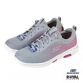 Skechers Go Walk 灰色 網布 運動健走鞋 女款 NO.J0485【新竹皇家 124009GYPK】