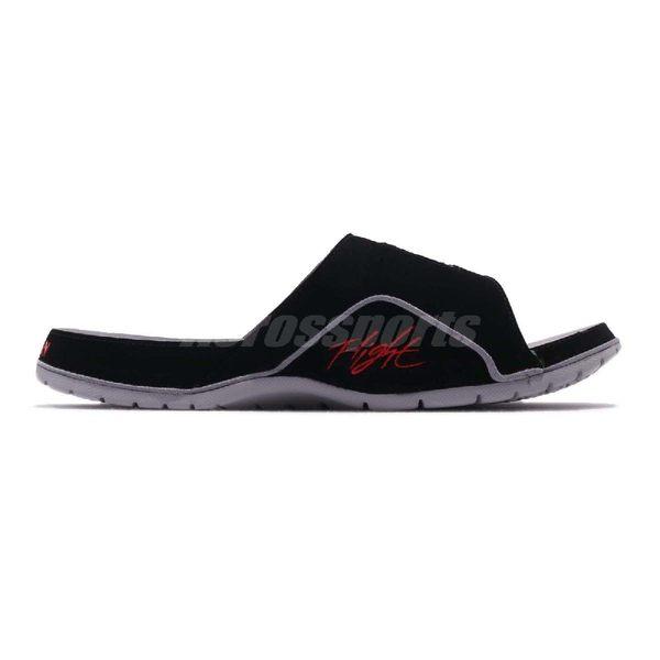 Nike 拖鞋 Jordan Hydro IV 4 Retro 黑 紅 魔鬼氈 喬丹 男鞋 涼拖鞋【PUMP306】 532225-006