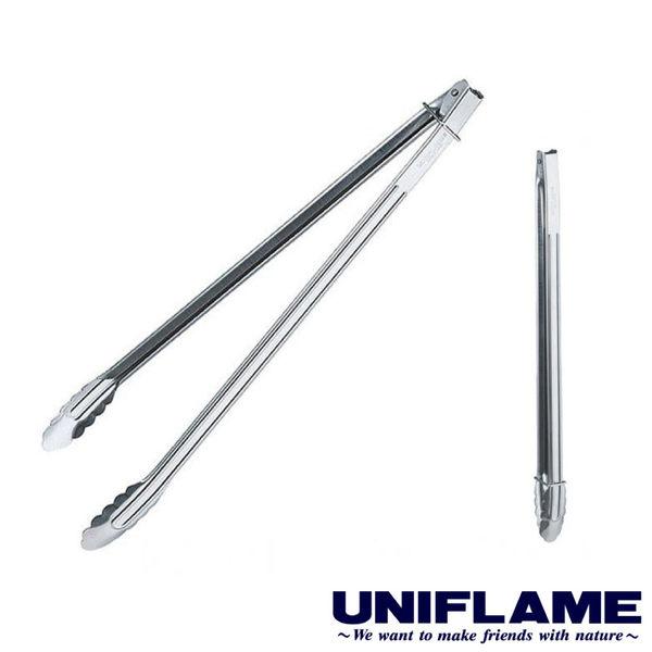 【日本UNIFLAME】不鏽鋼燒烤夾50cm 露營│烤肉架│營火│燒烤 U665701