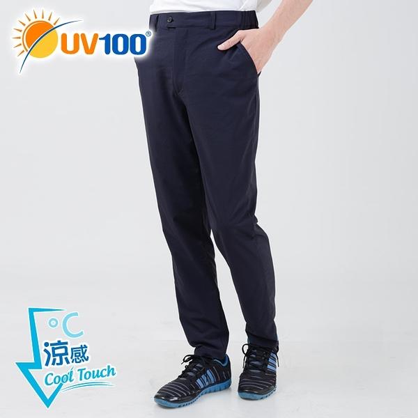 UV100 防曬 抗UV-冰絲輕薄彈力休閒長褲-男