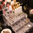 首飾化妝品收納盒抽屜式飾品耳飾戒指項鍊口...