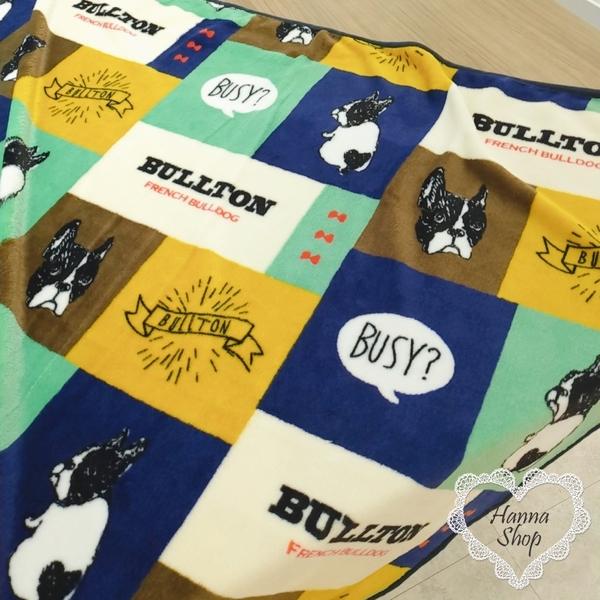 《花花創意会社》外流。新款可愛法鬥格子保暖空調寵物小毛毯披肩 藍紅兩色【H7009】