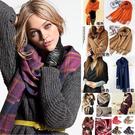 柔軟厚羊絨 G33《韓版熱賣格紋》長圍巾披巾絲巾。現貨。橘魔法 magic G