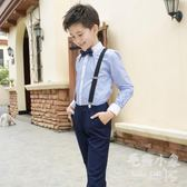 兒童禮服套裝小主持人花童背帶褲表演服裝      SQ9417『毛菇小象』