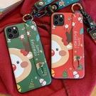 聖誕卡通三星手機殼 挂繩SamSung Note 10 Plus手機套 S8/S9/N8/N9三星保護套 S10/S10e/S10 Plus保護殼