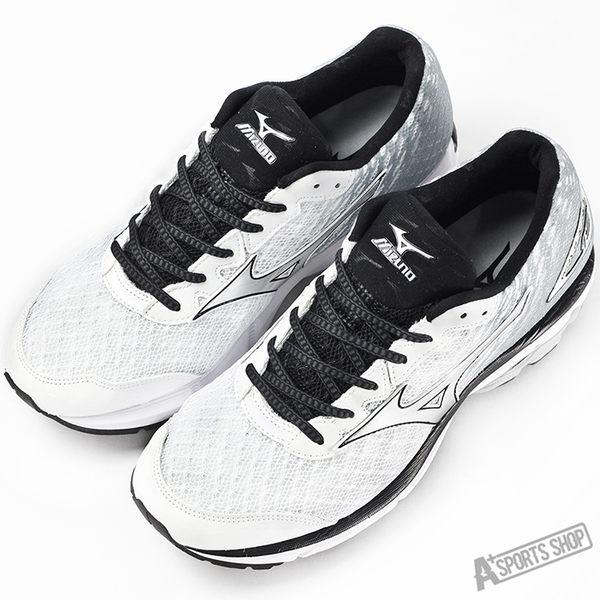 Mizuno 男 慢跑鞋 WAVE RIDER 19 美津濃 慢跑鞋 白 - J1GC160319