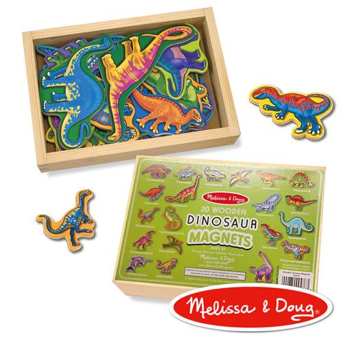 美國瑪莉莎 Melissa & Doug 益智 - 恐龍造型木質磁鐵貼