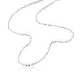 【LECRIN翠屋珠寶】義大利14K金項鍊-新式水波鍊1.5尺-2.1g