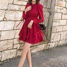 春季新款時尚紅色洋裝(四碼可選)