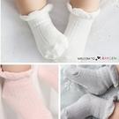 春夏薄棉鬆口花邊防滑寶寶襪 短襪 三色