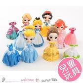 女童Q版公主系列換裝玩具模型 6款+12套 A組