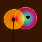 意大利投影燈 臺燈 房間燈 彩虹燈網紅爆款 夕陽燈 落日燈 復古桌燈 拍照燈 USB 裝飾燈 檯燈