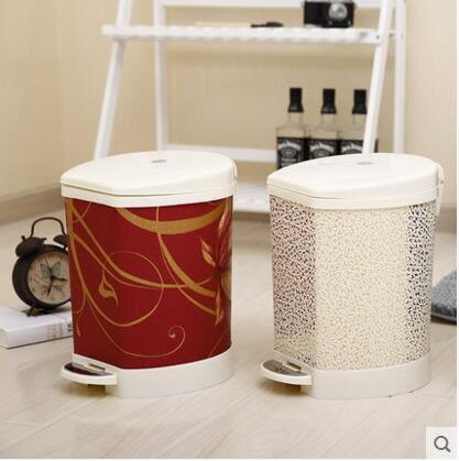 歐式腳踏靜音緩降垃圾桶 有蓋大號廚房客廳衛生間創意家用