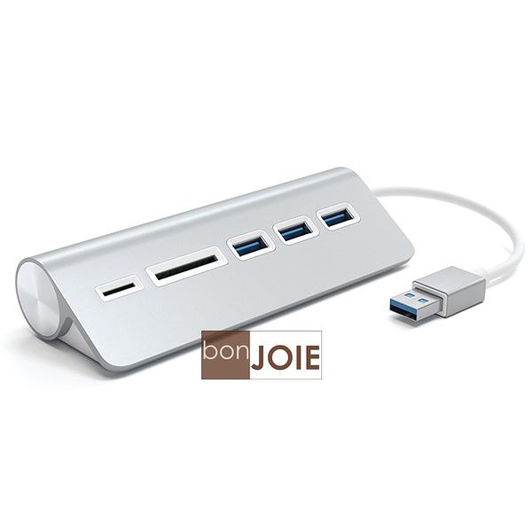 ::bonJOIE:: 美國進口 Satechi Aluminum USB 3.0 Hub & Card Reader 鋁合金材質 集線器 (含 SD / Micro SD 讀卡器) 讀卡