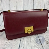 BRAND楓月 Bottega Veneta BV 紅色CLASSIC BAG 金色圓球釦 斜背包 側背包 肩背包
