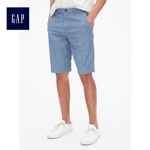 Gap男裝 波點提花休閒短褲 440868-牛仔色