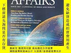 二手書博民逛書店world罕見affairs 2020年春季刊 英文版Y42402