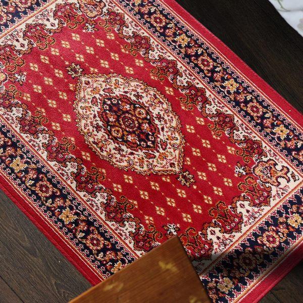 范登伯格 紅寶石輕柔絲質感地毯-踏墊-門墊-紅豔-50x70cm