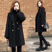 Qmigirl 冬季新款韓版中長款呢子大衣 外套【T1017】