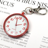 VASUCH 台灣授權 輕巧數字時尚懷錶 吊飾 鑰匙圈 PWT紅