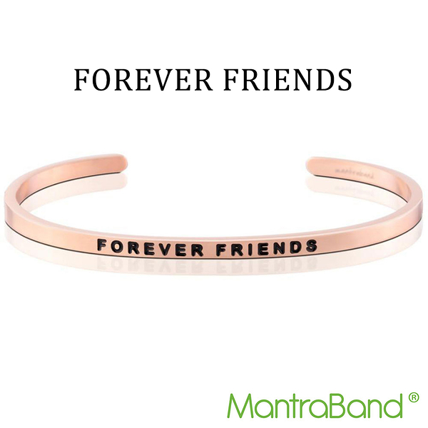 Mantraband | FOREVER FRIENDS 永遠的朋友 - 悄悄話玫瑰金手環 台灣官方總代理