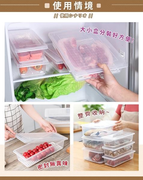 長條方形保鮮盒-小款 保鮮盒 收納盒 冰箱收納 瀝水盒 水果保鮮 蔬果保鮮 冷藏盒【HNKA82】#捕夢網
