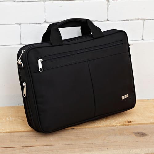 DF BAGSCHOOL - 科技時尚多功能防水多夾層筆電側背包