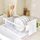 日式廚房碗架瀝水架水槽碗碟收納架多功能碗筷置物架不銹鋼瀝水籃