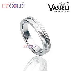 VASSELI ◤愛在倫敦◢ 鎢鋼鑽石戒(男)