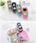 文具盒 韓國簡約帆布手提鉛筆袋可愛大容量文具盒分層筆袋男女孩  夢想生活家
