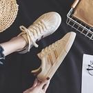 小白鞋女2019春款春季新款百搭韓版貝殼板鞋學生平底休閒基礎白鞋-享家生活館